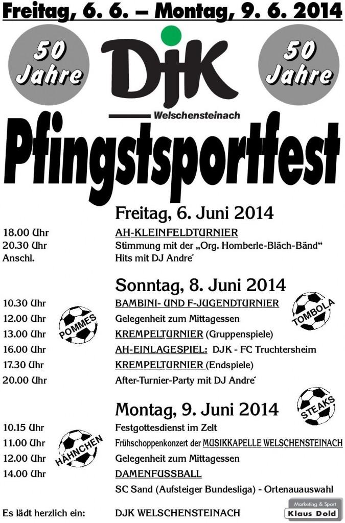 Plakat Pfingsten 14