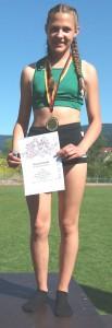 Anne Vögele von der DJK Welschensteinach holte bei den Badischen Blockmehrkämpfen den siebten Platz.