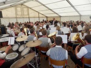 Die Musikkapelle Welschensteinach unter der Leitung von Adam Kalbfuß spielte am Pfingstmontag beim DJK-Sportfest zum Frühschoppen auf.