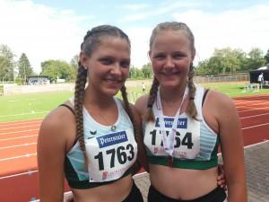 Die beiden erfolgreichen Vögele-Schwestern Anne und Lena von der DJK Welschensteinach sahnten auch bei den Badischen Blockmehrkampfmeisterschaften in Konstanz ab.